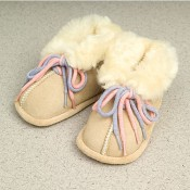 sheepskin wool baby booties, first walking shoes, infant slippers