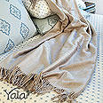 Yala silk fleece throw