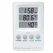 BGG Digital Hygrometer Thermometer Clock