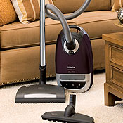 Miele Capricorn S5980 Luna Silver Canister Vacuum with Mid-sized Power brush SEB 217