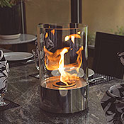 Nu-Flame Accenda Tabletop Glass Bio-Fuel Fireplace