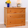 3 Drawer Dresser - Solid Maple Wood
