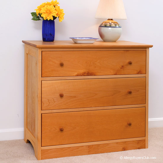 Solid Maple 3 Drawer Dresser. Solid Wood Maple 3 Drawer Dressers   Pacific Rim   AllergyBuyersClub