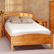 Classic Solid Maple Wood Beds