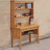 Desk and Optional Hutch in Solid Maple Wood