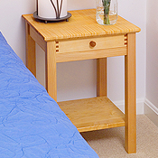 Solid Maple Bedroom Nightstands