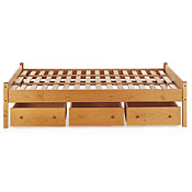 Under Bed Storage Drawers - Solid Maple Wood