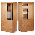 Wardrobe Armoires and TV Armoires - Solid Maple Wood
