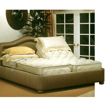 Electric Adjustable Bed With Latex Royal Pedic Mattress