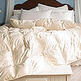 White Mountain Textiles Silk Covered Down Comforter