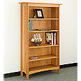 New England Wood 5-Shelf Bookcase