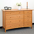 New England Wood Chatham 8-Drawer Dresser