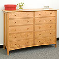 New England Wood Chatham 10-Drawer Dresser