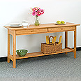New England Wood Kitchen Console Table