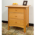 New England Wood Chatham 3-Drawer Nightstand