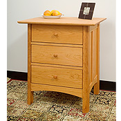 New England Wood Chatham 3-Drawer Dresser Nightstands