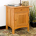 New England Wood Chatham Nightstand w/ Door