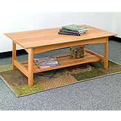 New England Wood Chatham Coffee Table w/ Slatted Shelf