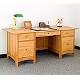 New England Wood Executive Desk