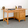 New England Wood Writing Desk