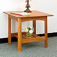 New England Wood End Lamp Table