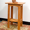 New England Wood Small End Table