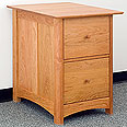 New England Wood 2-Drawer File Cabinet