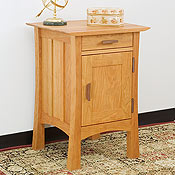 New England Wood Weston Nighstand with Door