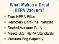 Why HEPA Vacuum Cleaners
