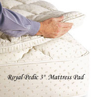 Royal-Pedic All Cotton 3in. Mattress Pad
