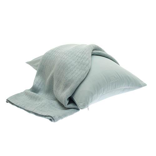 BedVoyage Rayon Viscose 100% Bamboo Throw Blanket & Travel Pillowcase