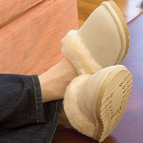 Our Home Comforts Wool Clog Slippers