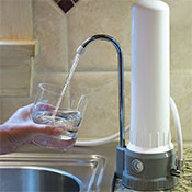 AquaCera HCP Countertop Water Filter with CeraMetix Filter