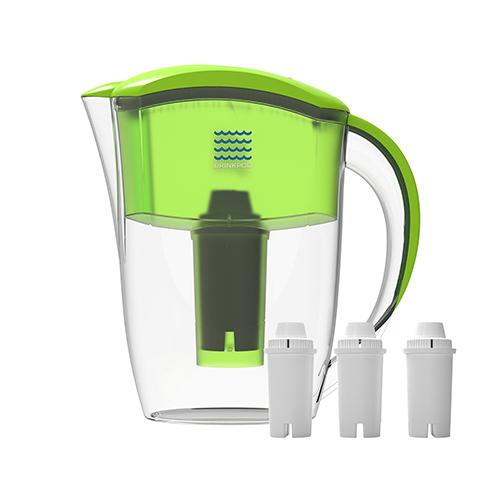 Drinkpod Alkaline Water Filter Pitcher, 2.5 Liter