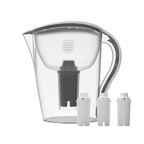 Drinkpod Alkaline Water Filter Pitcher, 3.5 Liter