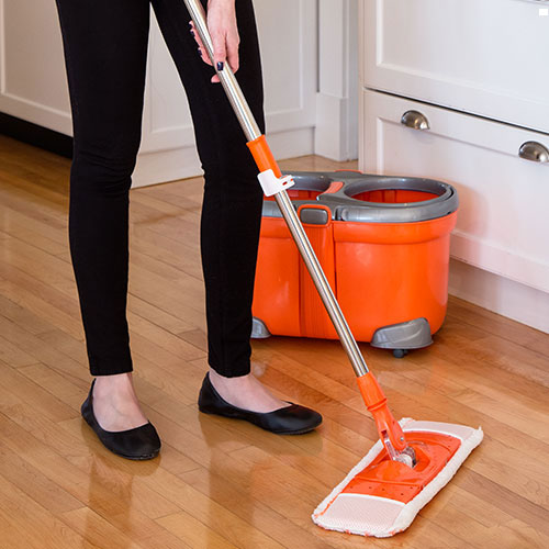 Flymop Flat-head Spin Mop and Bucket