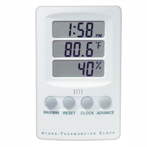 BGG Digital Hygrometer & Thermometer Clock