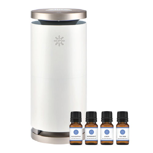 The Pure Company Large Room Air Purifier with Free Essential Oil Set