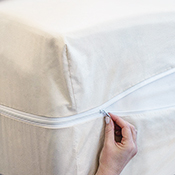 Hotel Plush Cotton Dust Mite Mattress Cover