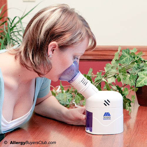 Mabis steam inhaler with facial mask