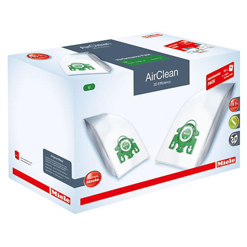 Miele Type U FilterBags & AirClean HEPA HA30 Filter Performance Pack