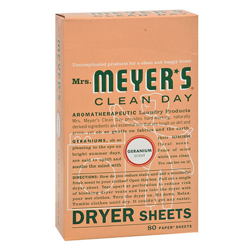 Mrs. Meyers® Clean Day Geranium Dryer Sheets