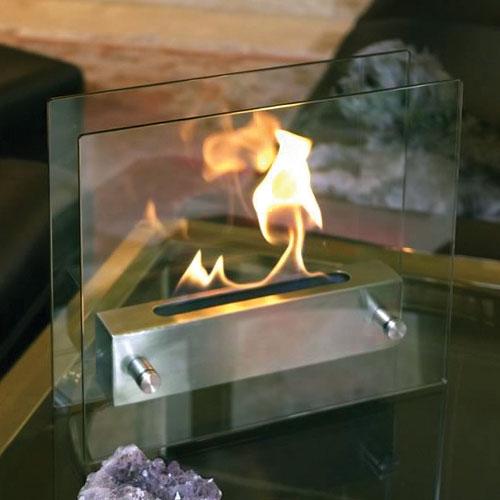 Nu-Flame Irradia Tabletop Glass Bio-Fuel Fireplace