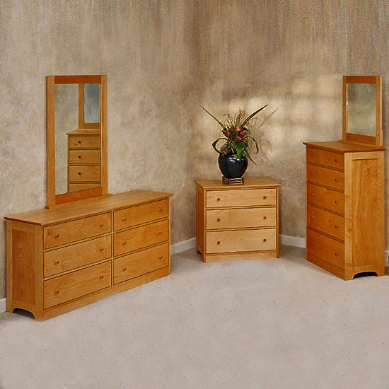 Solid Maple 6 Drawer Dressers