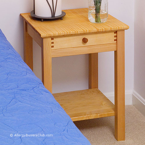 Solid Wood Maple Nightstands - Pacific Rim - AllergyBuyersClub