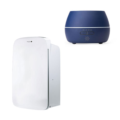 Aromatherapy Diffuser with Pure & Dry Hepa Air Purifier and Dehumidifier 70 Pint Bundle