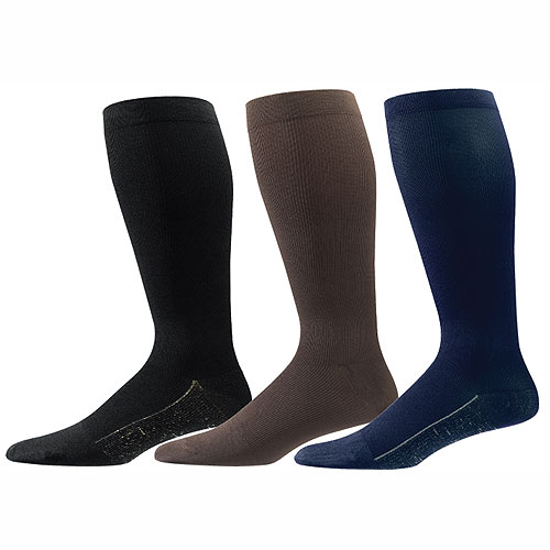 Copper Sole Mens Compression Support Socks - 1 Pair