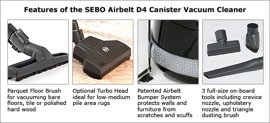 SEBO D4 features