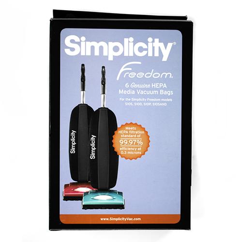 Simplicity S10 ULW Series HEPA Bag 6pk 6CS Green Collar