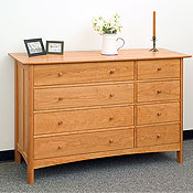 New England Wood Chatham 8-Drawer Dressers